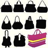 woman fashion bag black silhouette
