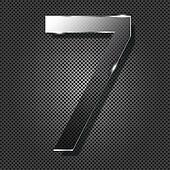 glass  numbers on metal background, vector illustration