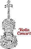 Creative violin concert poster design