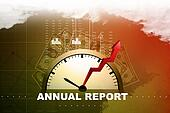 Financial annual report concept