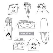 Emotion-vector-set