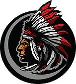 American Native Indian Chief Mascot