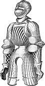 Maximilian armor vintage engraving