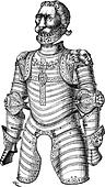 Armor of lion also known as Louis XII vintage engraving