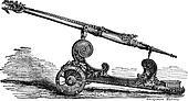 Falcon cannon vintage engraving