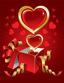 beautiful vector background on Valentine's Day