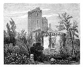 The Castle of Lavardin. - Drawing Tirpenne, vintage engraving.
