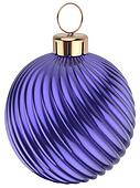 Christmas ball New Years Eve bauble decoration blue purple
