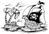 Drawing of pirate ship 1