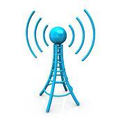 Blue Antenna Tower