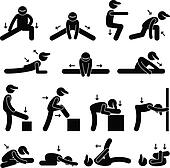 Body Stretching Exercise Icon
