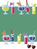 vector of different drinks and cocktails.