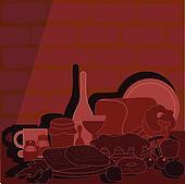 kitchen food background