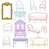 rococo furniture doodles