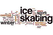 Ice skating word cloud