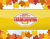 Happy thanksgiving stamp illustration