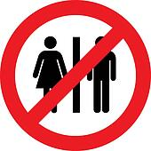 No toilets sign