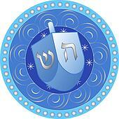 Hanukkah design with dreidel