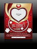 Vector Valentine Day Flyer Design