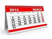 Calendar March 2014.