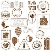 Birthday Vector Stamp Set - look for more in my gallery
