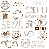 Vector stamp set collection