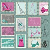 Fashion Stamp Collection - for your design and scrapbook