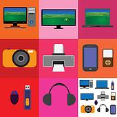 Electronic gadgets- tv,computer,camera,printer,laptop,phone