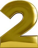 Two - Gold Metal Number 2