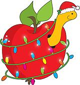 Christmas Apple Worm