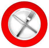 diet concept sign red and white