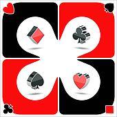 hearts, spades, diamonds, clubs
