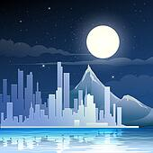 Midnight landscape
