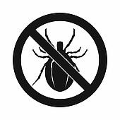 No bug sign icon, simple style