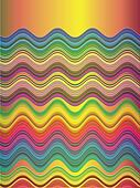 Waves playing with colour harmonies