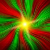 Red & Green Christmas Vortex with a Starburst