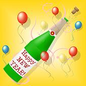 Happy New Year Means Celebrate Joy And Partying
