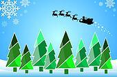 Christmas trees, Santa Cross.