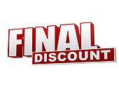 final discount red white banner - letters and block