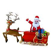 Santa with his sleigh