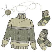 Wool sweater and socks
