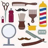 Barber and hairdresser related icon