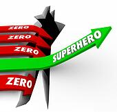 Superhero Vs Zero Top Performer Defender Protector Role Model Ar