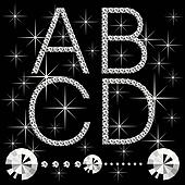 diamond letters with gemstones 06