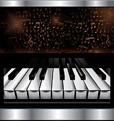 Abstract piano background