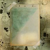 Abstract ancient brown background with set old paper in scrap booking style