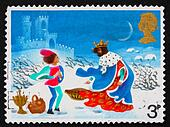 Postage stamp GB 1973 Page in storm