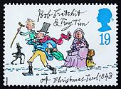 Postage stamp GB 1993 Tiny Tim and Bob Cratchit