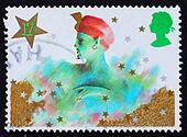 Postage stamp GB 1985 Genie, Christmas pantomime