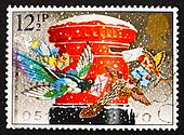 Postage stamp GB 1983 Birds mailing cards